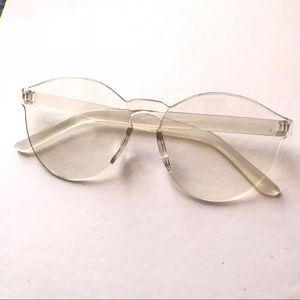 White Tinted Vintage Fashion Glasses